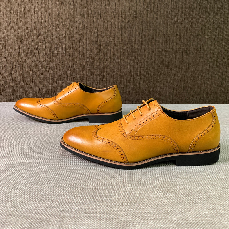 Brogued Wingtip Shoes