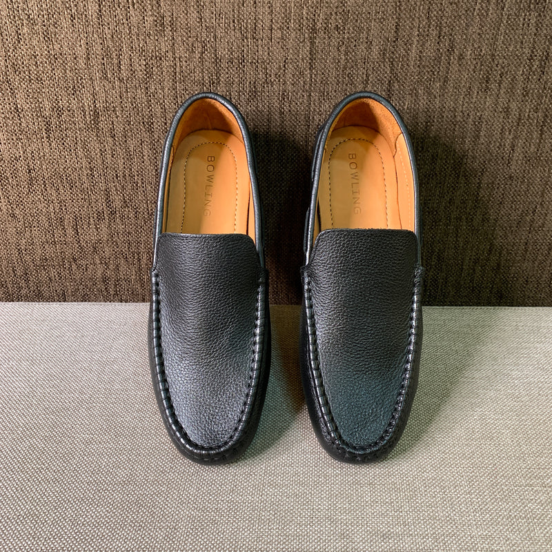 Grain Leather Loafers