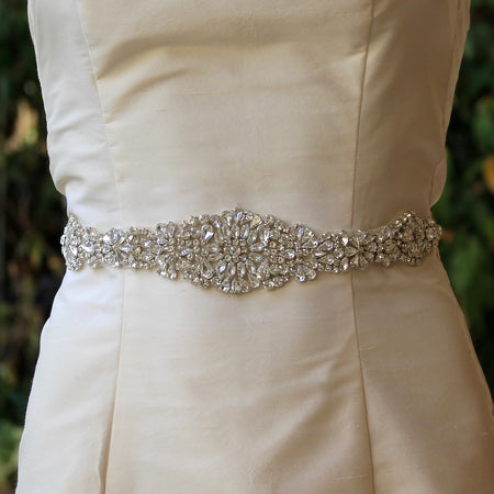 crystal beaded wedding dress sash