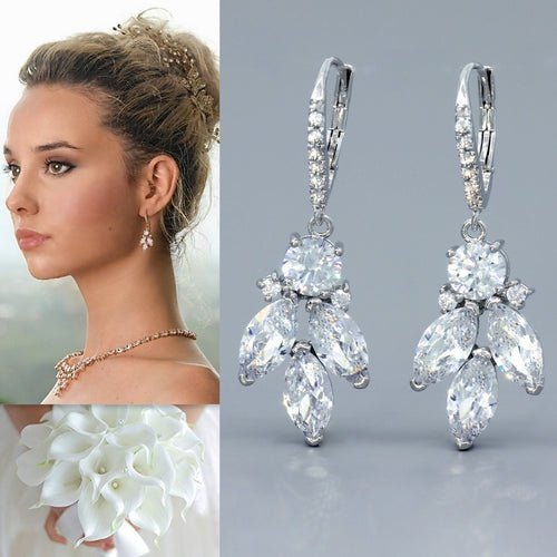 Crystal Drop Earrings, DARCY