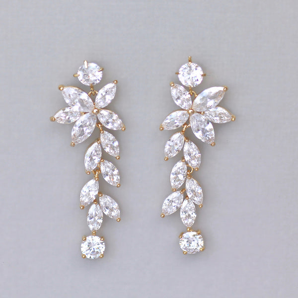 Gold Chandelier Bridal Earrings, MAXIME