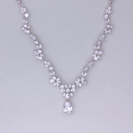 Crystal Wedding Necklace, ASHLEY C
