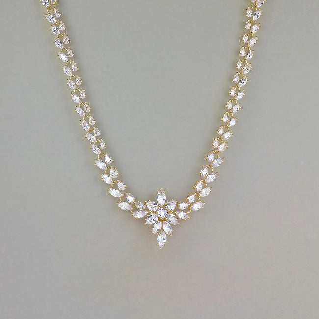 Crystal Bridal Necklace Gold,  COLETTE 2
