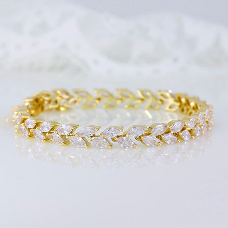 Gold Crystal Tennis Bracelet, HAYLEY