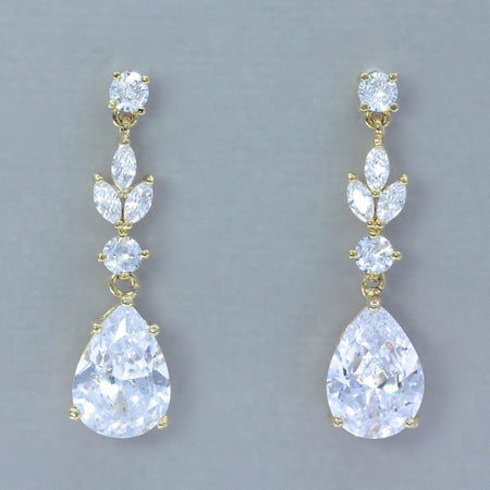 Teardrop Crystal Bridal Earrings, CHARLIE