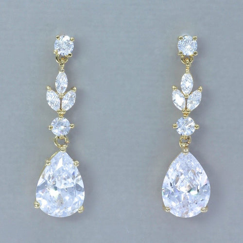 Crystal Bridal Earrings, ASHLEY GC