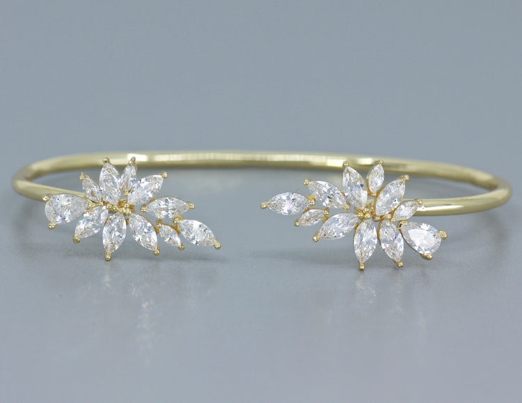 Gold Crystal Bangle  PHOEBE