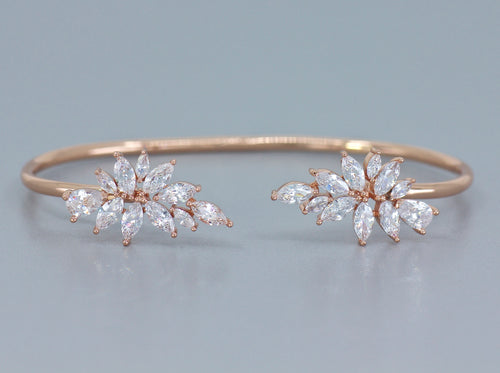 PHOEBE Rose Gold Crystal Bangle