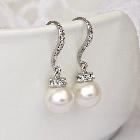 Bridesmaids Swarovski Pearl Earrings, SISSY 4