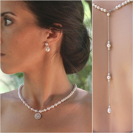 Rose Gold Bridal Necklace, DENISE G