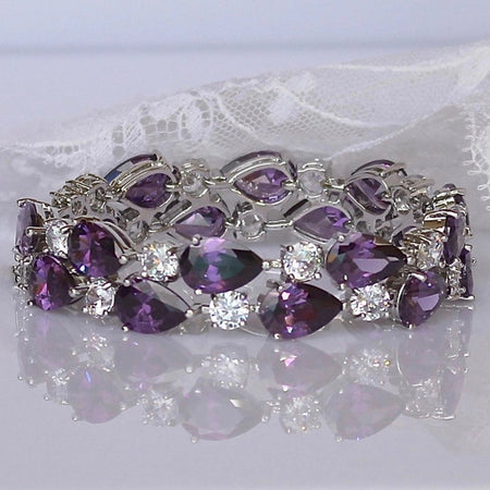 Crystal and Pearl Bridal Bracelet, TILLY
