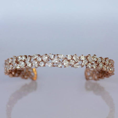 Rose Gold Crystal Bracelet, TAYLOR