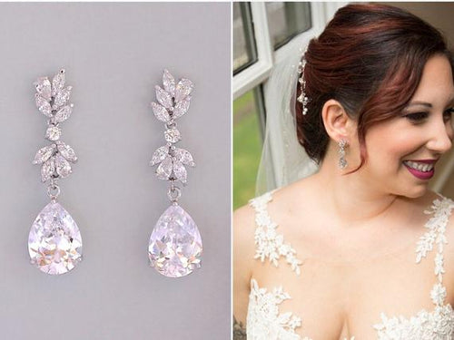 Copy of Crystal Chandelier Bridal Earrings, ANNIE C