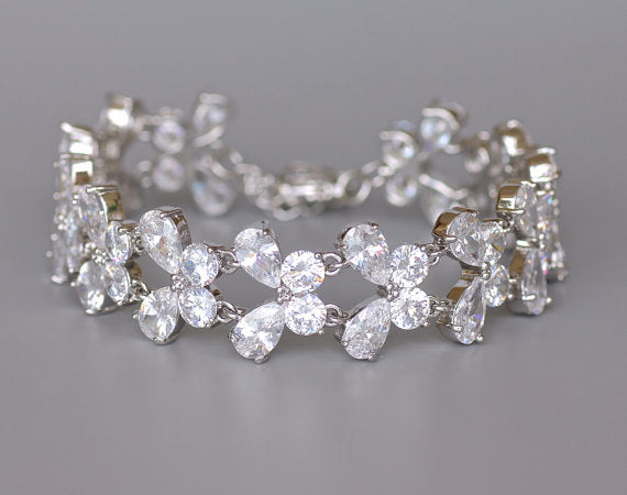 White Gold Wedding Bracelet, PAPILLON