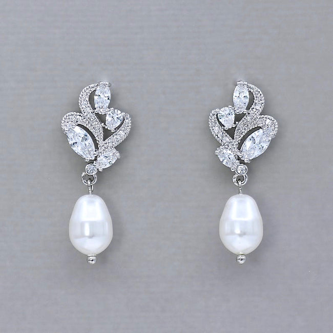Pearl Drop Earrings, FLEUR