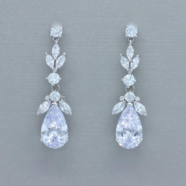 Cleo Teardrop Crystal Earrings