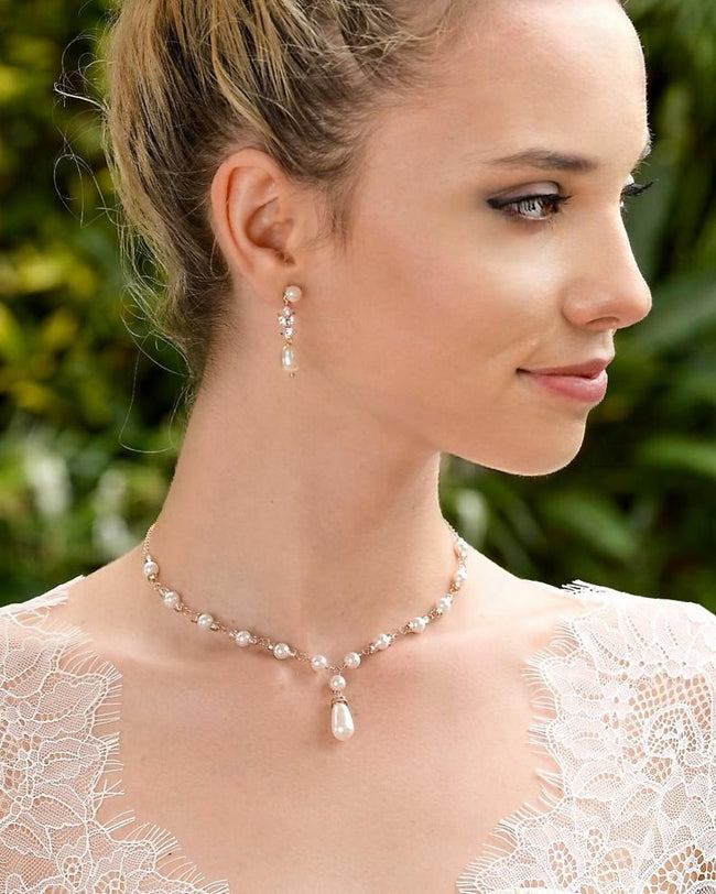 Pearl & Crystal Bridesmaids Earrings, Ashley PPD