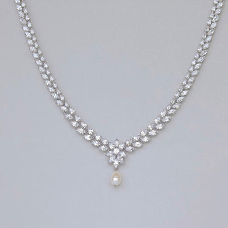 Glamorous Crystal Necklace, JULIETTE