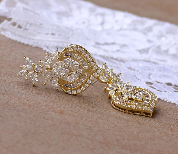Gold Crystal Bridal Jewelry, TAYLOR