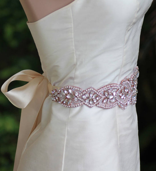 Rose Gold Wedding Dress Belt, CHRISTEL RG