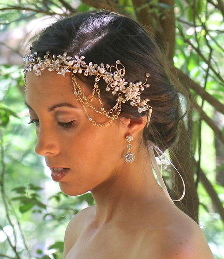 Pearl Bridal Hair Vine, ALLIE