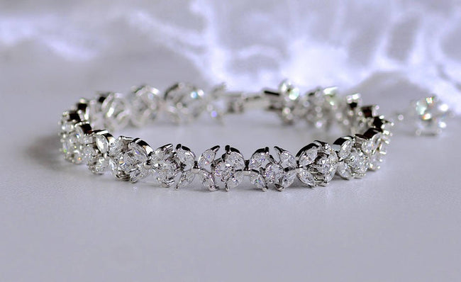 Crystal Wedding Tennis Bracelet, JOANNA