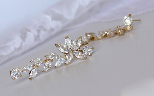 Crystal Wedding Earrings, MAXIME G