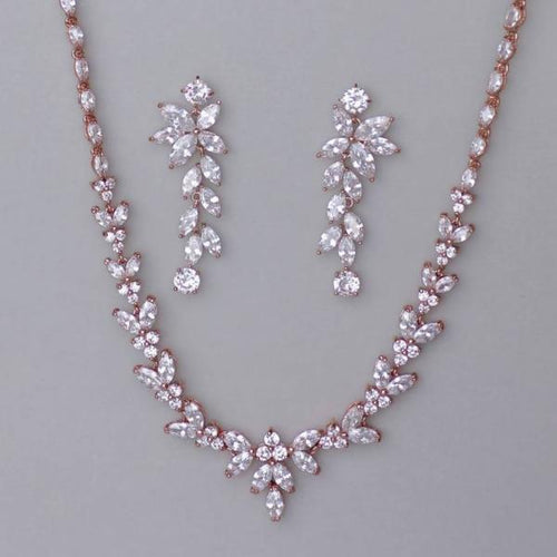 Rose Gold Crystal Wedding Jewelry Set, DENISE/MAXIME RG