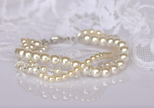 Twisted Pearl Bridal Bracelet, TWIST