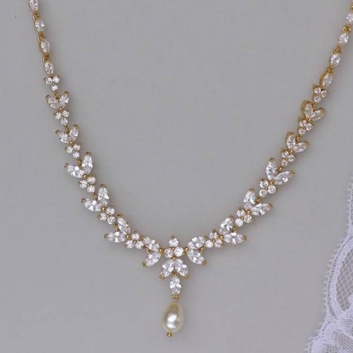 Crystal Bridal Necklace, DENISE G