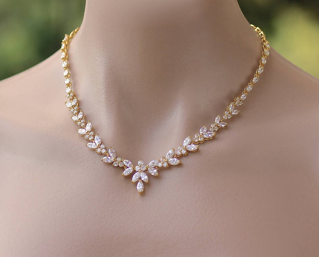 Gold Crystal Necklace, DENISE G