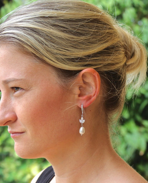 Pearl Bridal Earrings, HAYLEY FH