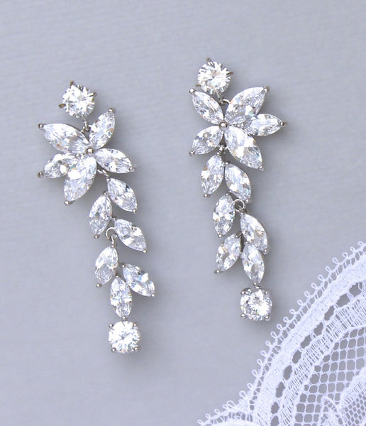 Chandelier Bridal Earrings, Maxime