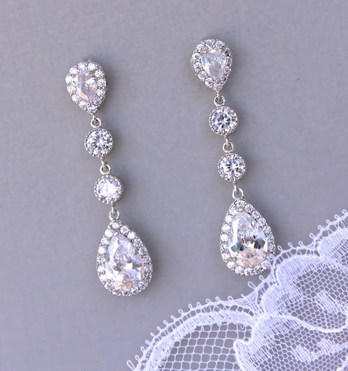 Chandelier Bridal Earrings, TAMARA S2
