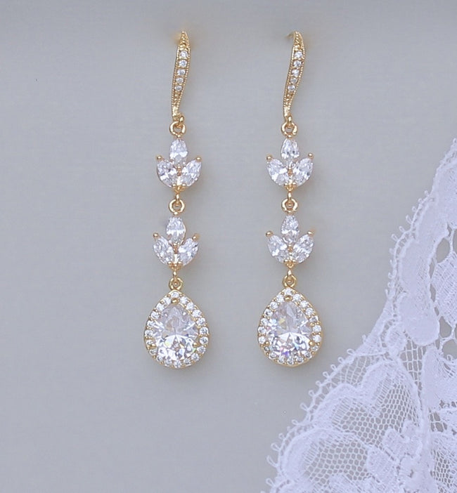 Crystal Wedding Earrings, HAYLEY GC