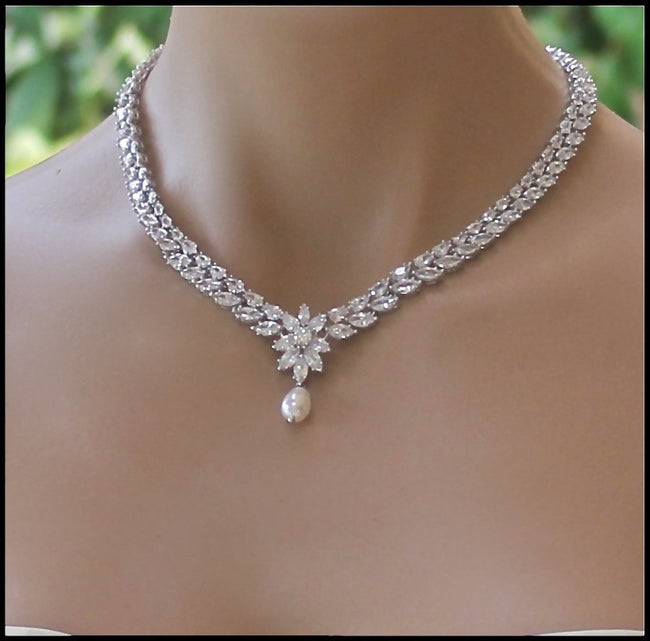 Crystal Wedding Necklace, COLETTE
