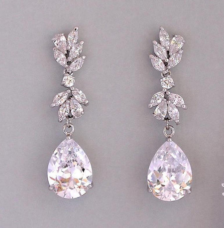 Silver Crystal Chandelier Earrings, ANNIE