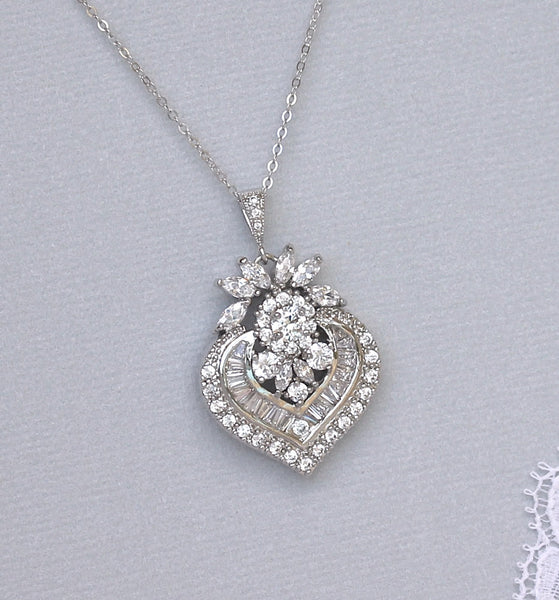 taylor crystal pendant necklace