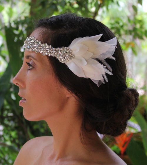 Boho Crystal Bridal Headpiece