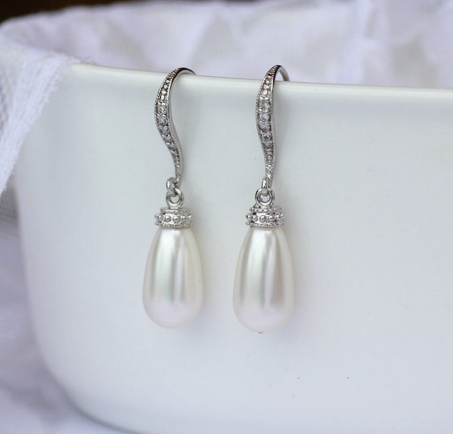 Pearl Bridal Earrings, AUDREY 2