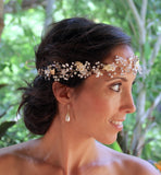 Gold and Ivory Bridal Hair Vine, WISTERIA