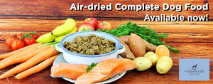 Air-dried complete healthy dog food