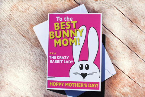 bunny rabbit mothers day card