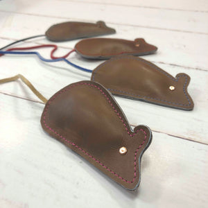 leather mouse toy for cats