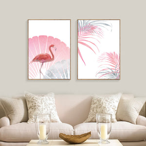 toiles flamant rose