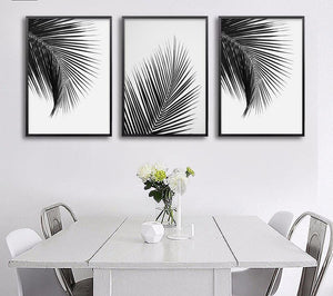 Toiles collection Black & White Palm - Les P'tits Fouineurs