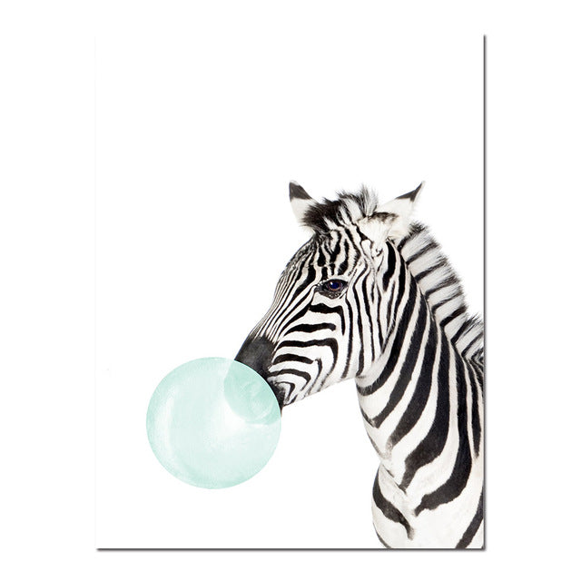 Toiles collection Animaux Blue Bubble Gum - Les P'tits Fouineurs