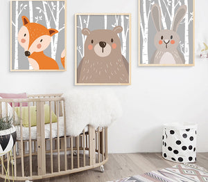 "Toiles ""baby animals"" - Les P'tits Fouineurs"