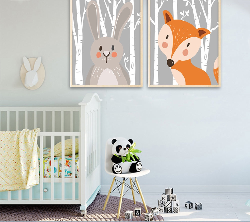 Toiles collection Baby Animals - Les P'tits Fouineurs