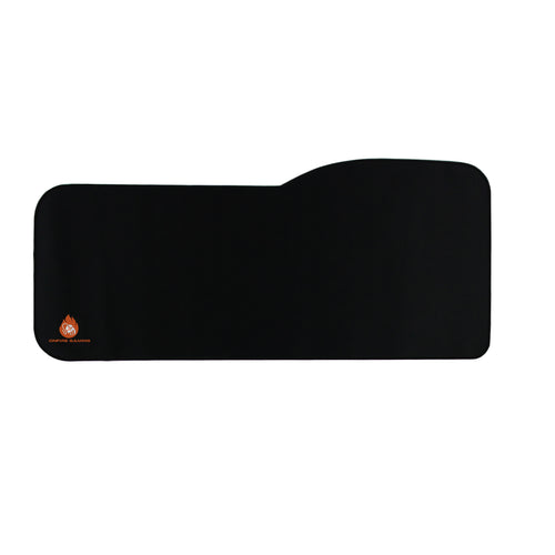 All Black OnFire Gaming Mouse Pad with Edge Stitching XL OnFire Gaming